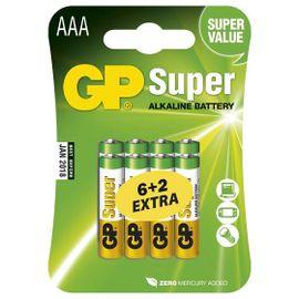 Batéria GP super alkalická AAA, 6+2ks/ Blister