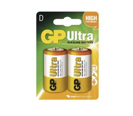 Batéria GP ultra alkalická D, 2ks/ Blister