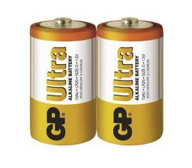Batéria GP ultra alkalická D, 2ks/ Fólia
