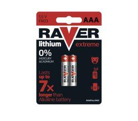Batéria RAVER líthiová AAA, 2ks/ Blister