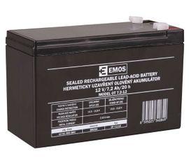 Bezúdržbový olovený akumulátor EMOS 12V/ 7,2Ah, faston 4,7mm