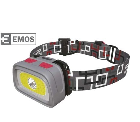 Čelovka EMOS 3 farby led + CREE LED + píšťalka