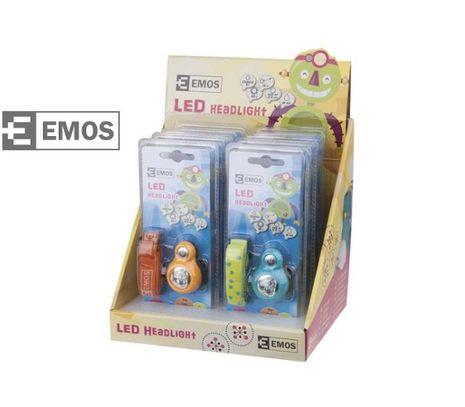 LED Čelovka EMOS na 2xCR2032 - 3x LED, 8 ks