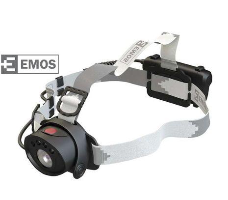 LED Čelovka EMOS na 3x AAA, 1+2 LED, IR čidlo