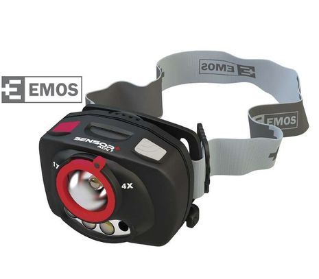 LED Čelovka EMOS na 3x AAA, 1+2 LED, IR Čidlo + Fokus