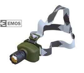 LED Čelovka EMOS na 3x AAA, 1x LED 3W + Fokus