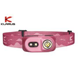 Čelovka Klarus H1A-PL + Klarus Micro USB Li-ion 14500 nabíjateľný akumulátor, Praktik Set - Ružová