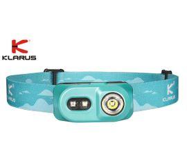 Čelovka Klarus H1A-PL + Klarus Micro USB Li-ion 14500 nabíjateľný akumulátor, Praktik Set - Modrá