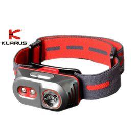 Čelovka Klarus TITANIUM H1A Červená + Klarus micro USB 14500 nabíjateľný akumulátor, Praktik Set