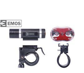 Cyklosvietidlo 1x1W LED predné + 3x červené LED 5 mm (zadné)