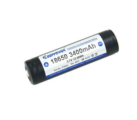 Keeppower 18650 3400mAh 3,7V chránený