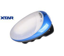 Kempingová LED lampa a čelovka 2v1 XTAR MOON RC2, Modrá - Praktik Set