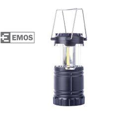 Kempingová LED lampa EMOS COB LED, na 3x AA