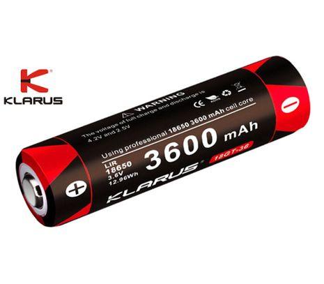 Klarus 18650 3600mAh GT 3,6V chránený, Profi akumulátor