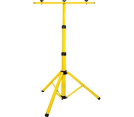 Kovový stojan na 2 LED reflektory - žltý