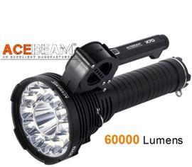 LED Baterka Acebeam X70 + 8x 18650 Battery Pack 6000mAh (Sony VTC6)