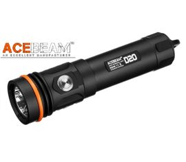 LED Baterka pre potápačov Acebeam D20 + Li-ion s micro USB IMR 21700 5100mAh 20A