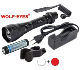 LED Baterka Wolf-Eyes X-Beam Biela XP-L V5 v.2 2017 + Červená LED Full Set