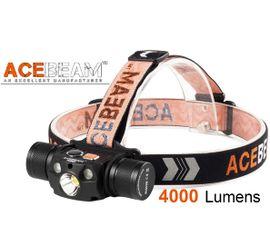 LED Čelovka a Powerbank Acebeam H30 XHP70.2LED+Červená a Zelená LED, USB nabíjaťeľná, Praktik Set