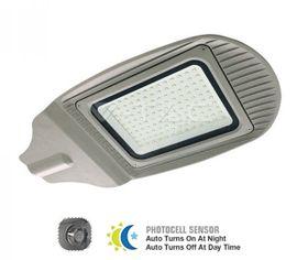 LED pouličné svietidloso so súmrakovým senzorom 50W IP65 4000lm šedé