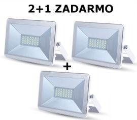 LED reflektor 10W 850lm I-SERIES Slim biely 2+1 ZADARMO