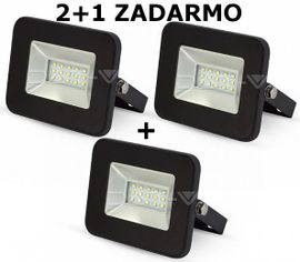 LED reflektor 10W 850lm I-SERIES Slim čierny 2+1 ZADARMO