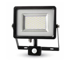 LED reflektor SMD 30W 2400lm SLIM čierno-šedý so senzorom