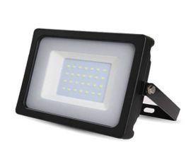 LED reflektor SMD 30W 2550lm SLIM čierny