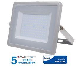 LED reflektor V-TAC 100W, 8000lm, SAMSUNG CHIP, Slim, šedý - 5 ROČNÁ ZÁRUKA!
