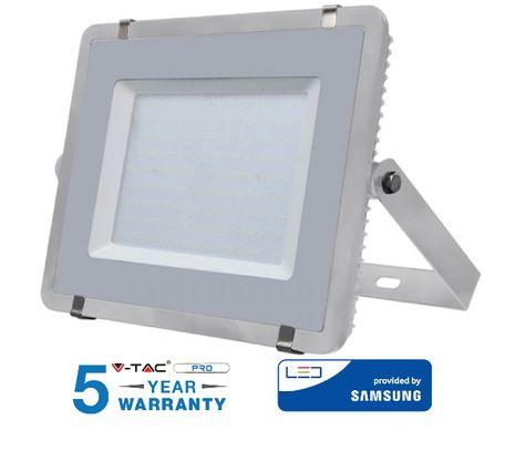 LED reflektor V-TAC 200W, 16000lm, SAMSUNG CHIP, Slim, šedý - 5 ROČNÁ ZÁRUKA!