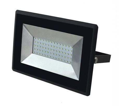 LED reflektor V-TAC 50W, 4250lm, E-SERIES, Slim, čierny
