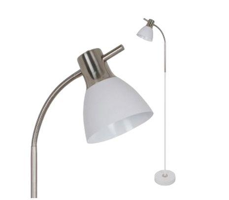Stojanová lampa strieborná