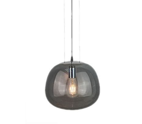 Stropné svietidlo šedé Glass shape séria
