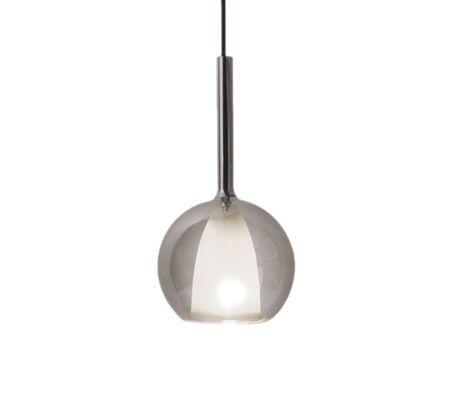 Stropné svietidlo šedý lesk Double glass séria