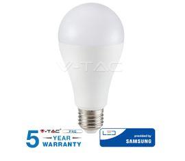 LED žiarovka V-TAC E27 12W, 1521lm, A65, SAMSUNG CHIP - 5 ROČNÁ ZÁRUKA!