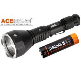 LEP Baterka Acebeam W30 (laserová) s Micro USB nabíjaním v tele Li-ion IMR 21700 5100mAh 20A + Červený filter