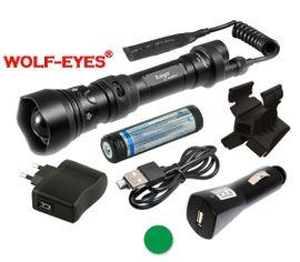 Nabíjateľná LED baterka Wolf-Eyes Ranger zelená LED, USB v.2017 - Full Set