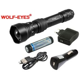 Nabíjateľný prísvit k nočnému videniu Wolf-Eyes Ranger IR850, USB v.2017 - Praktik Set