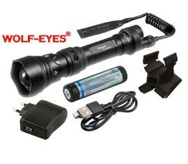 Nabíjateľný prísvit k nočnému videniu Wolf-Eyes Ranger IR850, USB v.2017 - Full Set