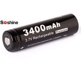 Soshine 18650 3400mAh 3,7V, s ochranou, 8A, chránený