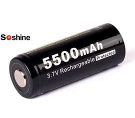 Soshine 26650 5500mAh 3,7V, 6A, chránený