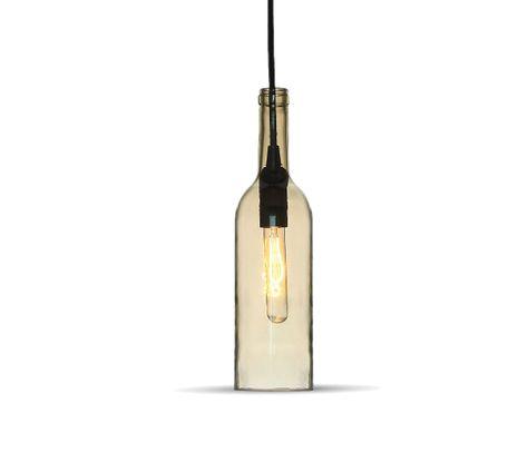 Stropné svietidlo fľaša s odtieňom jantáru