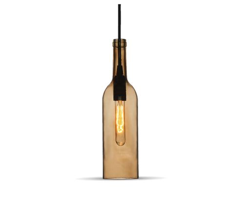 Stropné svietidlo hnedá fľaša