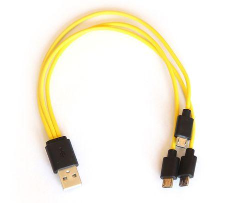 Trojitý nabíjací Micro USB kábel
