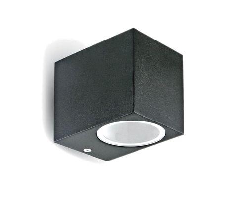 Vonkajšie svietidlo čierny hliník 1x GU10