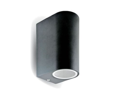 Vonkajšie svietidlo čierny hliník 2x GU10