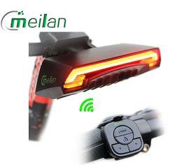 Zadné bicyklové svetlo Meilan X5, USB nabíjateľné, Praktik Set