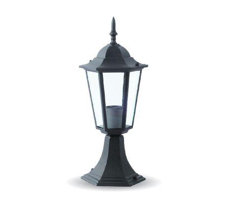 Záhradné stojanové svietidlo E27 čierne